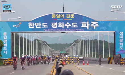 Still, 3 Irish warriors left in the Tour de DMZ in S/Korea after stage 4 and very much on the foreground in the peloton