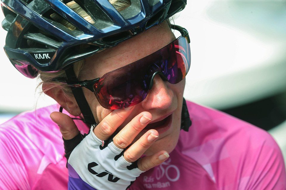 """""""It's my party and I cry when I want to"""" Claire Steels (Brother UK Fusion RT) shed a few tears of happiness after winning the """"Ras na mBan 2019"""" in Kilkenny this Sunday (8th September)"""