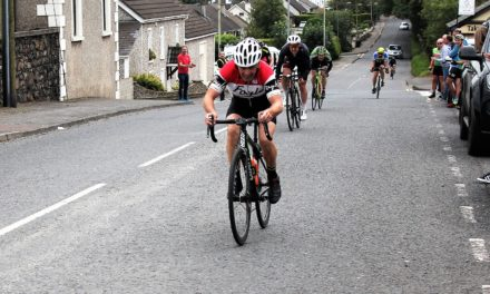 "Hot as Robert Curry from Foyle CC deserves the title ""Up the road of the month"" at the Dunloy GP Antrim (Sun 8th September)"