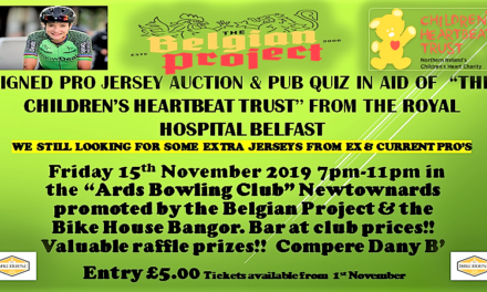 "A fundraiser for a very special cause!! Pro signed jersey auction and pub quiz in aid of the ""Children's Heartbeat Trust"" Belfast on Friday 15 November at 7 pm at the ""Ards Bowling Club"" Newtownards Co-Down"