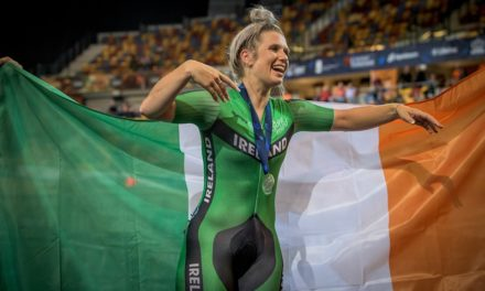 """Shannon McCurley (Team Ireland) wins Silver in the """"Scratch"""" discipline at the European Track Championships 2019 (Apeldoorn NL)"""