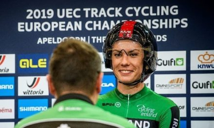 "As stout as a Murphy…Kelly Murphy (Team IRL) takes 4th in the ""3K individual pursuit"" but breaks Irish Record in the ECU Track Champs in Apeldoorn (NL)"