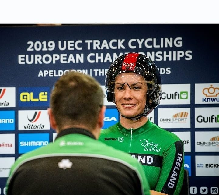 """As stout as a Murphy…Kelly Murphy (Team IRL) takes 4th in the """"3K individual pursuit"""" but breaks Irish Record in the ECU Track Champs in Apeldoorn (NL)"""