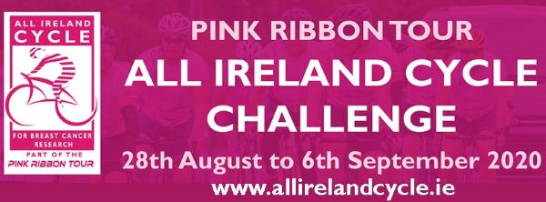 """Join """"the Pink Ribbon All Ireland Cycle Challenge"""" from Friday 28th August till the 6th of September…or donate on the link in the report…thank you!"""