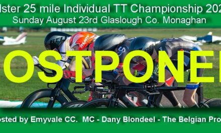 The Ulster 25 TT Championship of this Sunday (23 August) is postponed due to added restrictions who made it very difficult to run such an event and to respect the local community an understandable decision was made by the promoter Emyvale CC (Monaghan)