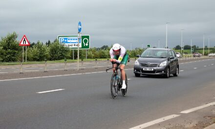 Marcus Christie wins round 4 of the Ernie Magwood Super 6 TT series today in less favorite weather conditions, but still stays under the 19 minutes!!