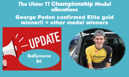 Official medal winners of yesterdays Ulster 10 TT Champs in Toome Antrim (Sunday 2nd August) with a slight change to an earlier report of yesterday which is now withdrawn