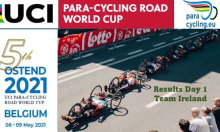 """A very respectable performance by team Ireland at the  Trial events in the """"2021 UCI Para-cycling World Cup"""" in Oostende (rd 1) Today the road races starting and we wish Team IRL good luck or """"Veel geluk"""""""