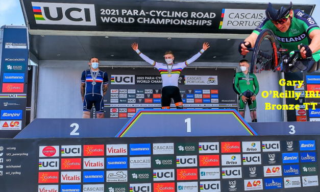 Medal alert nr 2!! Gary O'Reilly got himself a Bronze and the second medal for Team Ireland in the Para-cycling World Champs in Portugal…Declan Slevin was a solid 11th out of 26 entries in his class…Today Team Ireland could add to the medal count at the Road Racing events!!