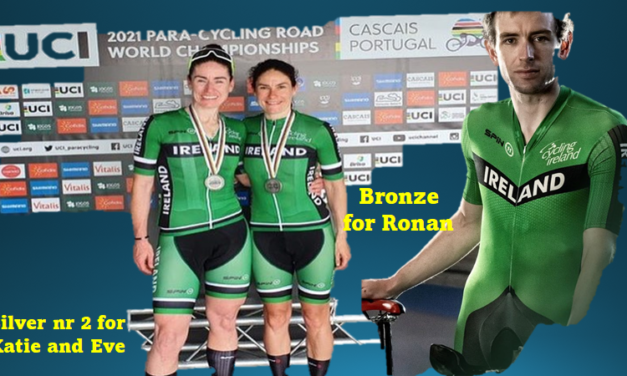 Double Medal alert…Katie and Eve taking silver for the second time this week with the Tandems, this time the RR, and Ronan taking bronze in the C4 road race leaving the count for Team Ireland at 2 silvers & 2 bronze with one day to go!!