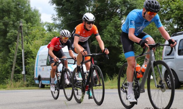 Oh…La La…c'est magnifique!! Darren Rafferty (Team 31 Jollycycles u19) wins his 3rd Junior stage race (Tour de la Vallée de la Trambouze) after returning 2 weeks ago to France. Darren fully recovered from his injuries as you see!!