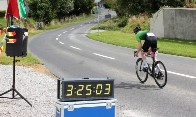 The full results of Stage one (TT) of the Newcastle West Wheelers 4-day stage race  held in the village of Knockaderry…Chris Mc Mc Glinchey, DeAN Harvey and Sharon Bird taking the first yellow jersey's…