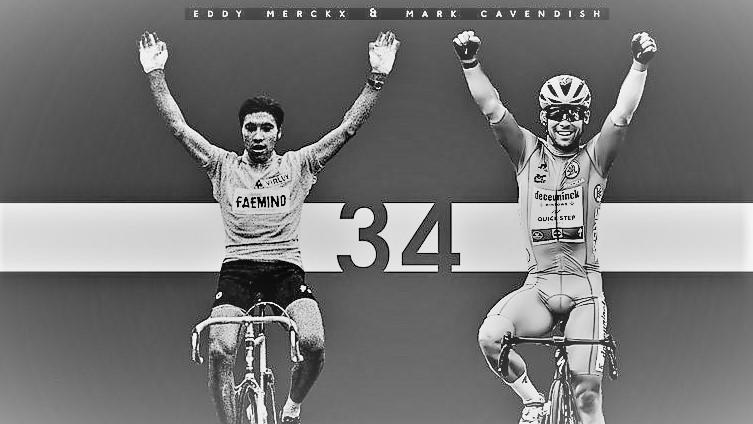 Cavendish equals Merckx TDF stage wins with winning stage 13 in Carcassonne…his 4th already and possibly can add to that in the final week…Mark is the sprint king of the Tour de France, but Eddy always gonna be the emperor of the Race!!