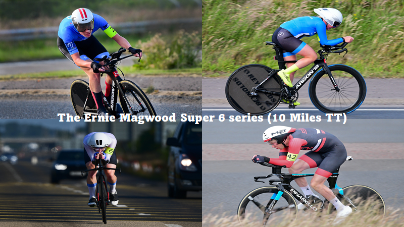"""Irish record-breaking evening at the """"Ernie Magwood Super 6 TT series"""" (round 4) at Frosses in Ballymena last Thursday (1st July) Second year Junior Darren Rafferty breaks the Junior 10 mile record (pending ratification) Lindsay Watson and Marcus Christie raising the bar with some eye-watering times!!"""