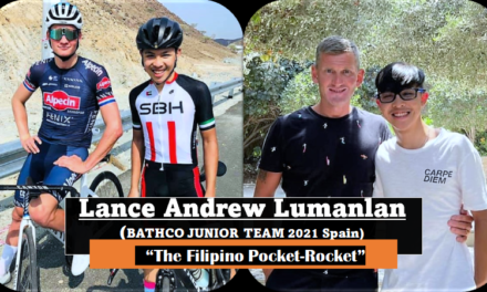 Sean Mc Fadden (Errigal CC-Donegal Ultra 555) Triathlon coach at the Sports Academy Dubai has a nose for talent! His protegee Lance Andrew Lumanlan (first year junior) got himself a place for 2021 in the top Spanish junior team Bathco…Remember this name…Lance planned to race a few times in Ireland in the near future!!
