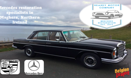 """THE SPONSORS OF THE BELGIAN PROJECT FOR 2021-2022 (PART 2) Already 4 years of loyal support received from """"Heaney Motor Co"""" in Swatragh (Co-Derry) and grateful for their renewal. They are established as one of the UK and Ireland's leading Mercedes Benz and Porsche restoration specialists!!"""