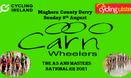 The Irish A3 and Masters Nationals takes place tomorrow (Sunday 8th August) in Maghera-South Derry…the list of entries and start times courtesy of promoters Carn Wheelers…