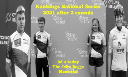 Rankings of the 2021 National series after 2 rounds (juniors 1 round)…Today Saturday 14th August round 3 in Dromore County Down (The John Beggs Memorial)