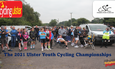 A fierce battle for medals at the 2021 Ulster Youth Cycling Champs at Victoria Bridge (Tyrone) which was promoted by local club Strabane-Lifford CC and CU…the podium results…