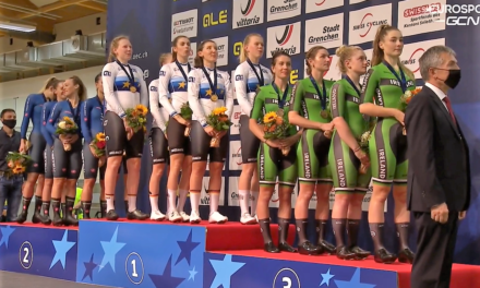 Our Irish Girls Pursuit team takes bronze at the European Track Champs in Switzerland… Well done Kelly, Mia, Alice, and Emily!! Also well done to JB with a 6th in the Devil's tale (elimination race), and Emily 7th in the scratch…(Day 1-2 results)