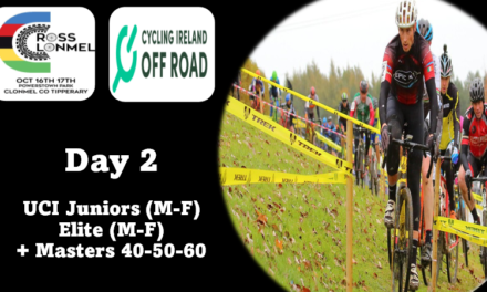 (PART 2) TOmorrow Sunday 17 TH OF OCTOBER IN CLONMEL, COUNTY TIPPERARY…THE LIST OF ENTRIES AND START TIMES of the UCI Cat 2  races + Masters (noN-UCI races)