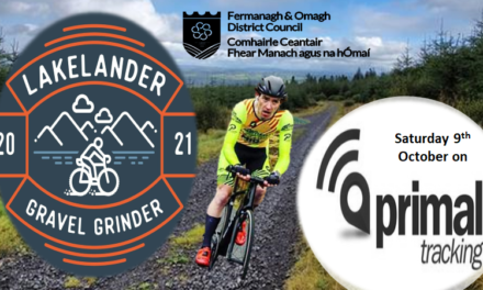 """Big day for the """"off-road"""" tomorrow (Sat 9th Oct) in Fermanagh…""""The 2021 Lakelander Gravel Grinder"""" A massive entry for the Big' and Small' Dog challenges with big names of the sport in attendance…follow your riders on Primal Track…"""