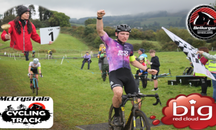 """When an Olympian golden Girl want's to ring the bell..she will ring the bell!!! The """"Big Red Cloud"""" cyclo-cross (rd 1) took place yesterday (Sat 9th Oct) at the Mc Crystal CX Track in Jenkinstown Co-Louth promoted by Bellurgan Wheelers…What a venue and background to race in!!"""